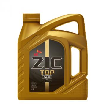 ZIC TOP 0W-40 полностью синтетическое моторное масло ПАО