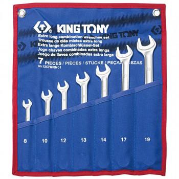 KING TONY 12C7MRN01 Набор комбинированных ключей удлиненных 7 предметов