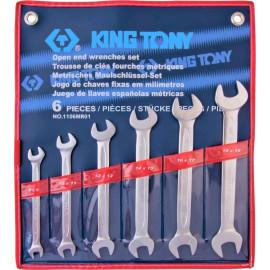 KING TONY 1106MR01 Набор рожковых ключей 6 предметов