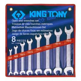 KING TONY 1108MR Набор рожковых ключей 8 предметов