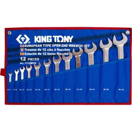 KING TONY 1112MRN Набор рожковых ключей 12 предметов