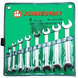Jonnesway W25108S Набор ключей гаечных рожковых в сумке 8 предметов