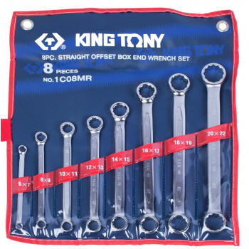 KING TONY 1C08MR Набор накидных ключей 8 предметов
