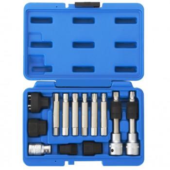 МАСТАК 106-10013C |Набор специальных головок и насадок шкива генератора 13 предметов
