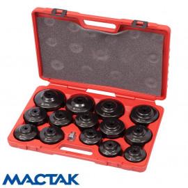 Набор съемников масленых фильтров (15 предметов) МАСТАК 103-40015C