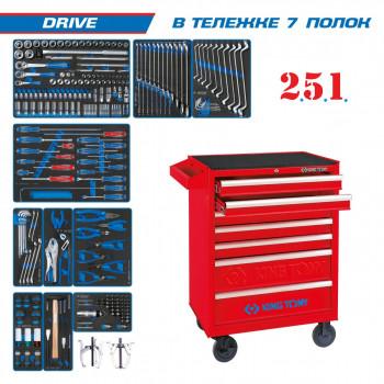 """Набор инструментов """"DRIVE"""" В  тележке 251 предмет KING TONY 934-251MRV"""