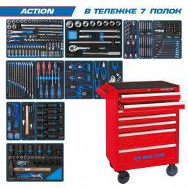 "Набор инструментов  ""ACTION"" в тележке 327 предметов KING TONY 934-327MRV"