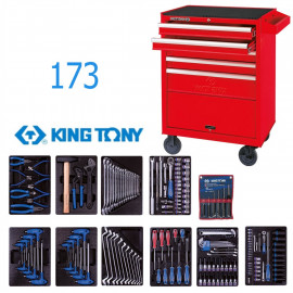 Набор инструментов в тележке 173 предмета KING TONY 932-000MR