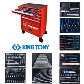 Набор инструментов в тележке 161 предмет KING TONY 932-005MR