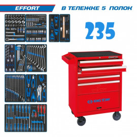 "Набор инструментов ""EFFORT"" в тележке 235 предметов KING TONY 934-235MRV"