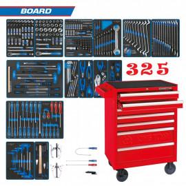 """Набор инструментов """"BOARD"""" в тележке 325 предметов  KING TONY 934-325MRV"""