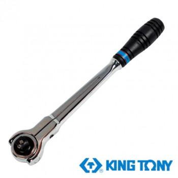 """Трещотка 1/2"""" 300мм, 72 зубца дисковый механизм, поворотная голова с кнопкой KING TONY 4752-12G"""