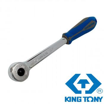 """Трещотка 1/2"""" 250мм 72 зубца дисковый механизм, с кнопкой KING TONY 4756-10G"""