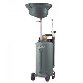 Установка для слива и откачки масла/антифриза с круглой подъемной ванной, мобильная KraftWell RW1832.80