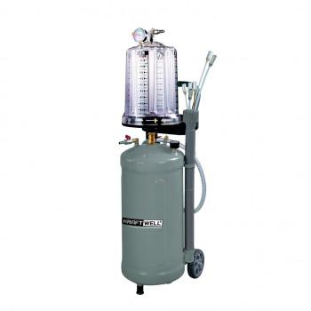 Установка для откачки масла и антифриза с мерной емкостью, мобильная KraftWell KRW1836