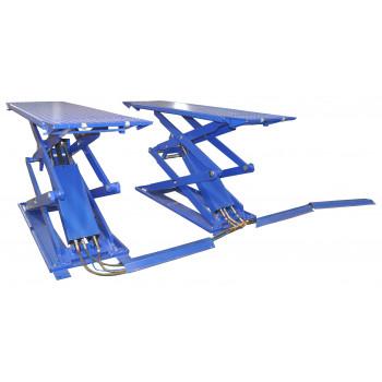 Подъемник ножничный короткий г/п 3000 кг. напольный KraftWell KRW3FS/220