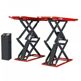 Подъёмник ножничный короткий напольный г/п 3500 кг. Red Line Premium R350SF