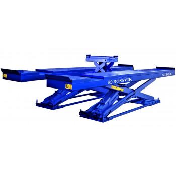 Подъемник ножничный ROSSVIK V-40Х г/п 4 тонны для развал/схождения