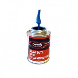 Вулканизирующая жидкость (клей) HEAVY DUTY BLUE VULCANISING FLUID, 235 мл, с кисточкой