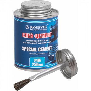 Клей-цемент ROSSVIK 250 мл/340гр. (банка с кистью)